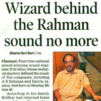 Times-of-India-Wizard behind the Rahman Sound no more.